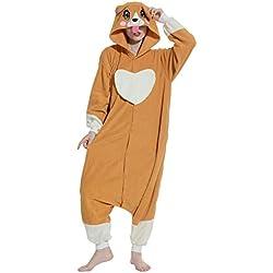 Pijamas Kigurumi Animal Entero Invierno Cosplay Traje Disfraz Adulto Pyjamas Carnaval Halloween Navidad Ropa de Dormir, Perro
