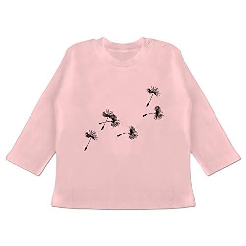 Up to Date Baby - Pusteblume Löwenzahn Samen - 6-12 Monate - Babyrosa - BZ11 - Baby T-Shirt Langarm - 9 Samen