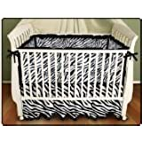 Sin in Linen Zebra Stripe Baby Crib Skirt and Crib Sheet by Sin in Linen Inc.