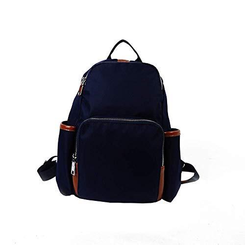 Fuxitoggo Damen Tasche Nylon Oxford Tuch Mode Damen Rucksack Reisetasche Rucksack getäfelten Innenschlitz Tasche Stickerei Tasche (Farbe : Dunkelblau)
