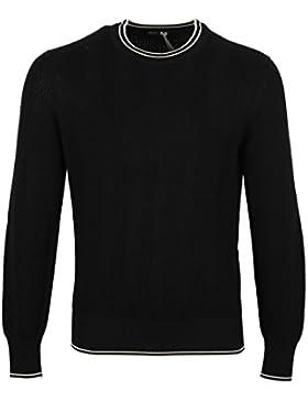 CL - TOM FORD Black Crew Neck Sweater Size 48 / 38R U.S. In Silk Cotton