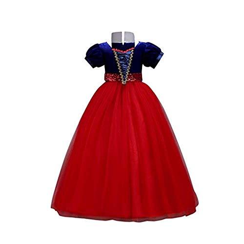 Dasongff Cinderella Kostüm Kinder Prinzessin Kleid Mädchen Verkleidung Faschingskostüm Karneval Cosplay Party Halloween Festkleid 3-14Jahre