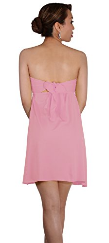 Sodacoda Beach Strapless Summer Holiday Dress knee lenght - all colours - One size (UK 8-12) Pastel Pink
