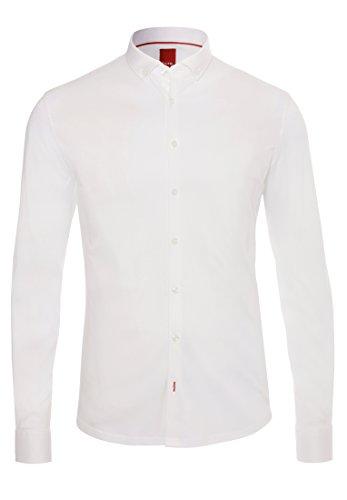 Unifarbiges Langarmhemd uni weiß
