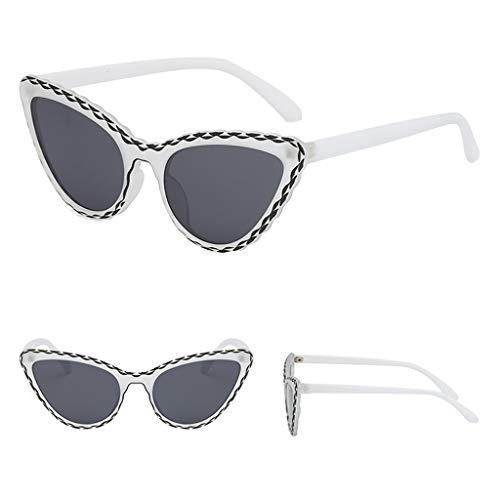 CADANIA Floral Cat Eye Sonnenbrille Rahmen Persönlichkeit Dame Frauen Dekoration Candy Farbe Trend Geschenke Charme Ornamente 2#