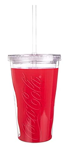 Coca Cola Acrylic Travel Cup Straw