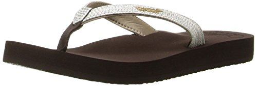 REEF Star Cushion Sassy, Sandalias Flip-Flop para Mujer, Marrón (Brown/White), 36 EU