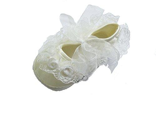 Cinda Baby- Blumen-Schuhe Elfenbein