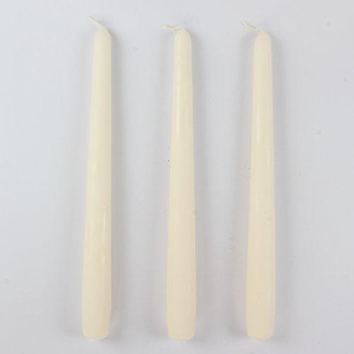 Kerzen Spitzkerzen Tafelkerzen STONEWASHED, 6 Stk. 250/23 mm creme