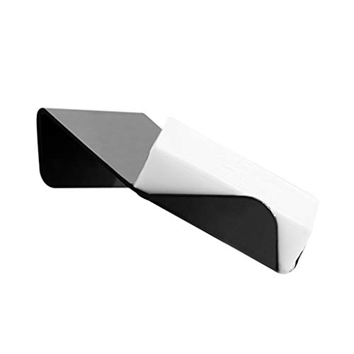 LANA Seifenschalenhalter Wandmontage Kreative Unregelmäßiger Raum Aluminium Seifenschoner Rack Tablett Ohne Bohren Oxidation Fertig Bad Dusche Caddies Küchenspüle Schwammhalter, Schwarz