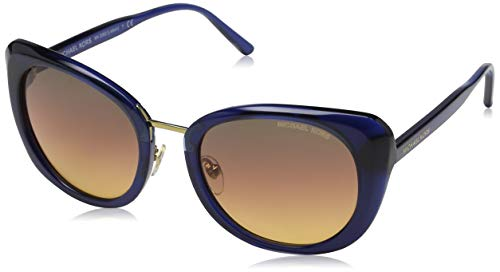 Michael Kors Damen Lisbon 3322H4 52 Sonnenbrille, Milky Navy/Sunsetgradient