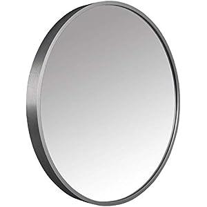 WJSXJJ Runde Badezimmerspiegel for Eingang Passage, Schlafzimmer, Wohnzimmer, usw, Premium-Qualität Glas, Make-up Vanity Kosmetikspiegel, Wanddekorations (Color : Silver, Size : 40cm)