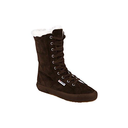 Superga 2040-Suebw, Sneaker a Collo Alto Donna multicolore (Full Dk Chocolate)