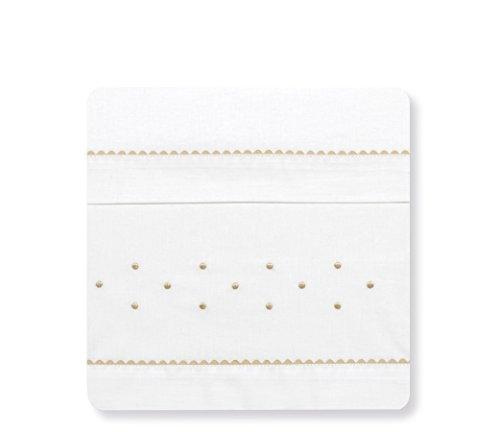 Bimbi Romantic - Sábanas, 50 x 80 cm, color blanco y lino