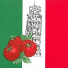 Idea Regalo - Tovaglioli Italia 33X33 3 Veli