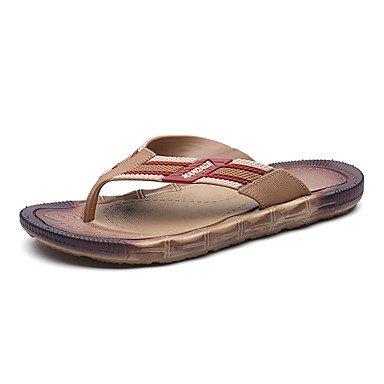 Slippers & amp da uomo;Sandali estate luce Suole PU Casual Khaki Marrone Nero sandali US8 / EU40 / UK7 / CN41