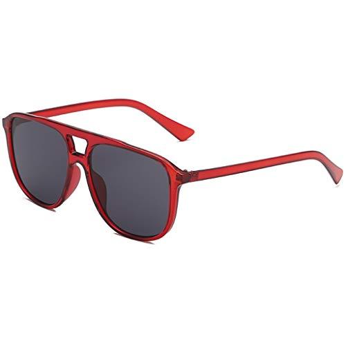 EUCoo Big Sonnenbrille PersöNlichkeit Brillengestell Punk Wind Fahren Anti-Uv-Brille