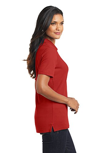 Port Authority L800 Damen ezcotton Pique Polo Rot - Tomato Red