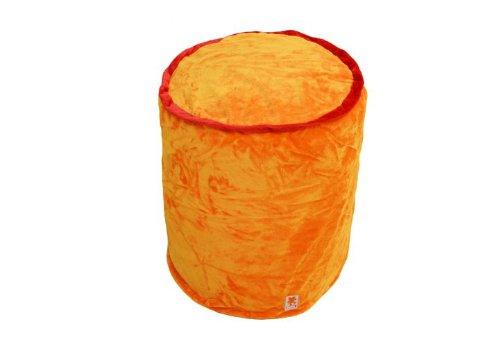Nici Home Sitztonne Plüsch Sitzsack Sitzhocker Hocker LOVE orange 55 cm befüllt