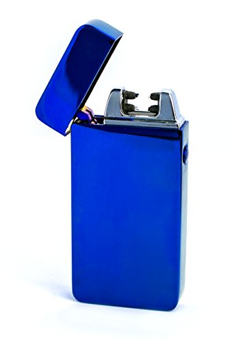 Pasajero Electrische Akku leichter Dual Arc Flammenlose USB winddicht Feuerzeug (Dual Arc Blue-1)