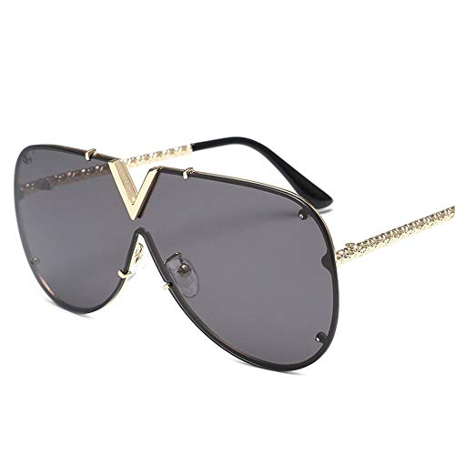 DONGLIAN Sonnenbrillen Sonnenbrillen Für Männer Und Frauen Sonnenbrillen Rahmenlose Niet Persönlichkeit Brille Reisen Anti-UV-Sonnenbrillen (Farbe : A)