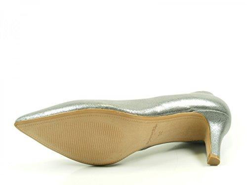 Tamaris 1-22414-28-297 Schuhe Pumps Metallic Stiletto Grau