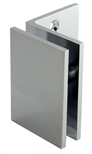 Winkelverbinder Fixum LS, Glas-Wand, 90°, Chrom