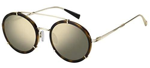 Max mara occhiali da sole mm wire i dark havana/gold grey donna