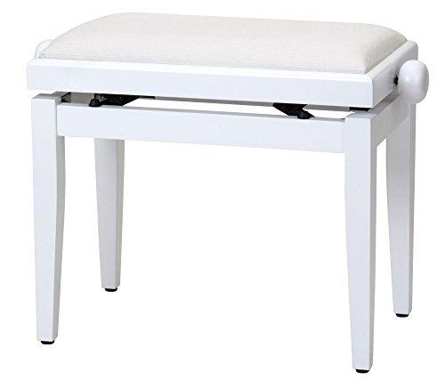Classic Cantabile DP-50 WM E-Piano SET (Digitalpiano mit Hammermechanik, 88 Tasten, 2 Anschlüsse für Kopfhörer, USB, LED, 3 Pedale, Piano für Anfänger, Pianobank, Kopfhörer, Klavierschule) weiß matt - 8