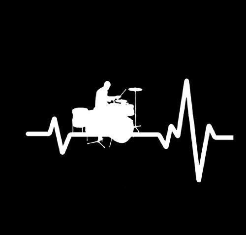 Auto-Dekor,Herzfrequenz Linie Batterie Rock 15x8cm Benutzerdefinierte PVC DIY Auto Motorrad Aufkleber Kunst Zubehör Kreative Spiel Stil Fenster Helm Aufkleber Geschenk 5 Stücke -