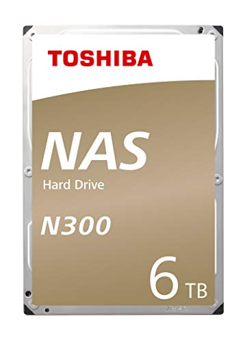 Toshiba N300 Disque Dur Nas - Disque Dur Interne 6 To - 3,5' (Pouces) - Disque Dur Réseau Interne avec 7200 Tours par Minute (Tpm) et 6 Go/s - Protection Idéale Contre Surchauffe et Perte de Données