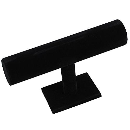 BESTOYARD Présentoir de bijoux Collier Stand Velours noir planant T-Bar Stands de bijoux Stands