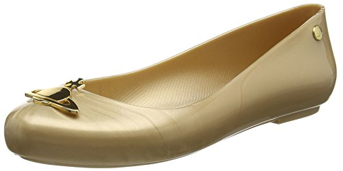 Vivienne Westwood & Melissa Vw Space Love 16, Ballerines femme Or - Gold (06661-Gold Pearlized Orb)