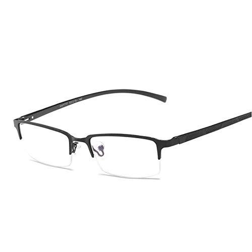GPZFLGYN Anti-Blau Computer Gläser Anti-Fatigue Klassische Semi-Randlose Brille Für Männer Frauen Unisex Optische Brillen Rahmen Business Brillen Anti Blue Ray Goggle Eyewear