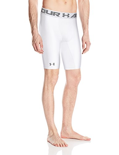 Under Armour HG Armour 2.0 Long Short Pantalones Cortos Deportivos, Hombre, Blanco (White), LG