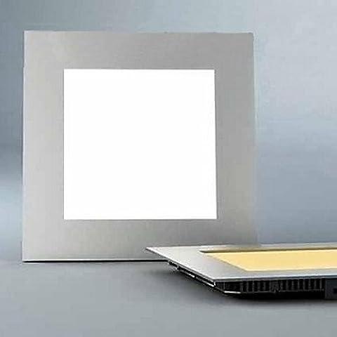 CC Pannello LED Luce, 15 luminosa e moderna piazza ultrasottile in alluminio colata PC , bianco