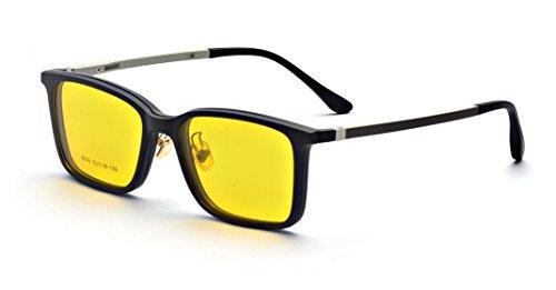 ALWAYSUV Polarisierte UV400 Clip-on Sonnenbrille für Nachtsicht-Fahren Flip up Brille Autofahren Gelb