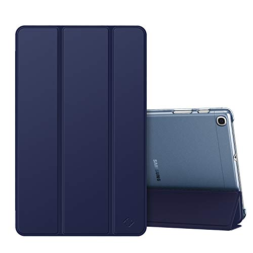 Fintie Hülle für Samsung Galaxy Tab A 10,1 SM-T510/T515 2019 - Ultradünn Schutzhülle mit transparenter Rückseite Abdeckung Cover für Samsung Galaxy Tab A 10.1 Zoll 2019 Tablet, Marineblau