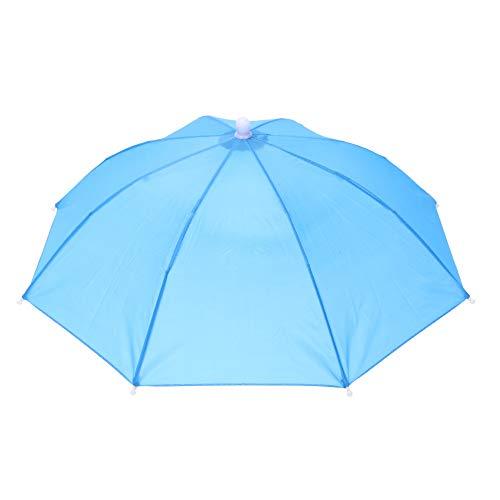 Dreamitpossible Tragbarer Kopf-Regenschirm, Anti-Regen, Outdoor-Reisen, Angeln, Sonnenschirm, Hut, Kinder und Erwachsene, B