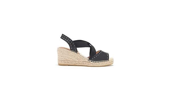 91744c983f20 Kanna - Ania Seta Wedge Sandal - Black  Amazon.co.uk  Shoes   Bags