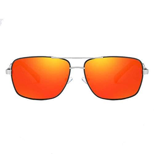 Sonnenbrillen Sportbrillen, Trend Fashion Shopping Driving Winddichtes Sonnenbrille polarisiert Anti-UVfarben Film quadratische Gläser für Mann-Frauen Freizeit-bequeme Sportbrillen, F