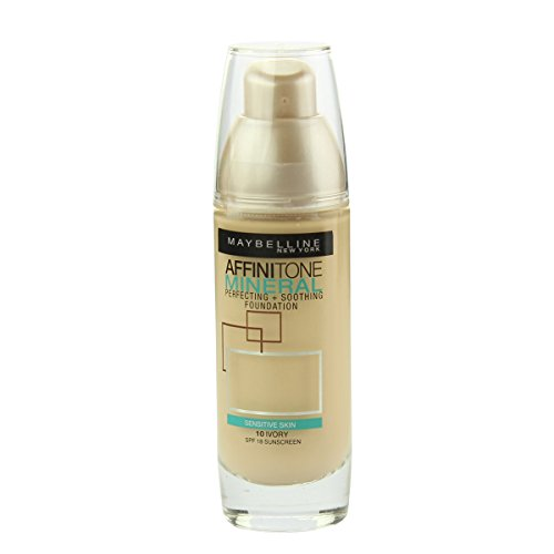 Maybelline Foundation Ivory (Maybelline Affinitone Mineral Perf.+Sooth. Foundation SPF18 (10 Ivory) 30ml)