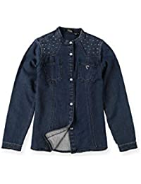 GUESS Kinder Bluse Langarm Hemd gerader Schnitt Stretch Komfort Shirt Oberteil