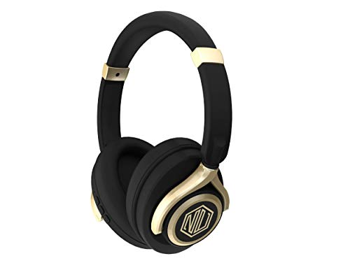 Nu Republic Starboy 2 Over-Ear Wireless Headphones (X-Bass) (Black & Gold)