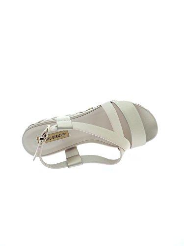 LUCIANO BARACHINI 8012 F Sandalo Donna Beige/platino