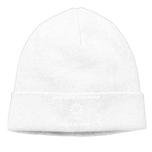 ZiJface Momen's Sarcastic Comment Loading Cool Travel Black Beanies Tough Headwear -