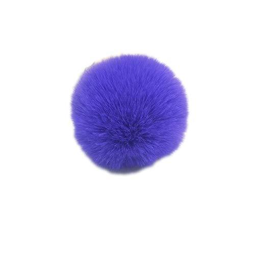It's-ok Schlüsselanhänger, flauschig, für Damen, Tasche, Porte Clef, künstliche Kaninchen, Haarball, Wollfell, Rostfreier Stahl, violett