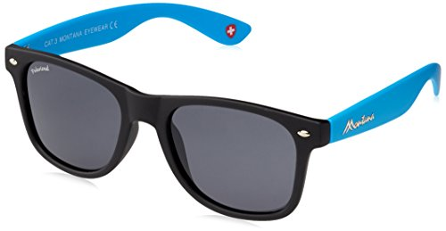 Montana MP40, Gafas de Sol Unisex Adulto, Multicolor (Black + Blue + Smoke Lenses), Talla única