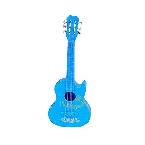 Forfar 4 Strings Musical Spielzeug aus Plastik Ukulele Kleiner britischer Stil Kindergitarre Blau (Hawaiianische Ananas)