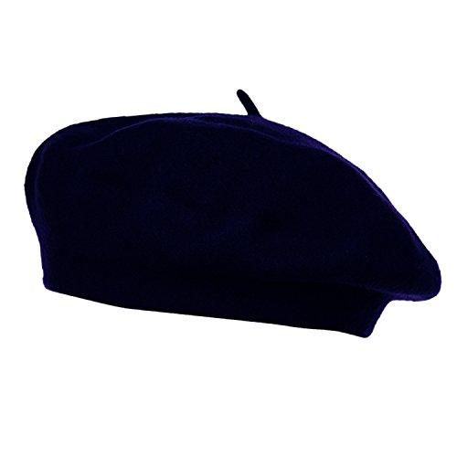 HowYouth® 1940er Jahre Vintage Classic Französisch Künstler Einheitsgröße Wolle Baskenmütze Mütze unisex Beanie Mütze (Marine) Damen Hut